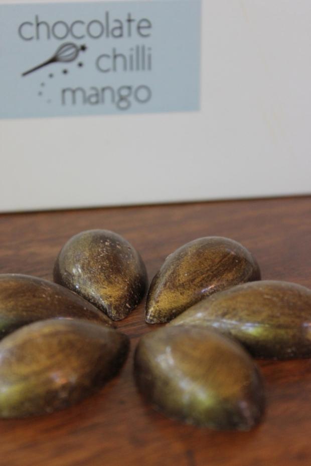Caramelised Honey Macadamia Chocolates from Chocolate Chilli Mango